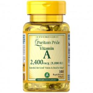 Puritans Pride Vitamin A 8000IU 2400mcg 100 softgels