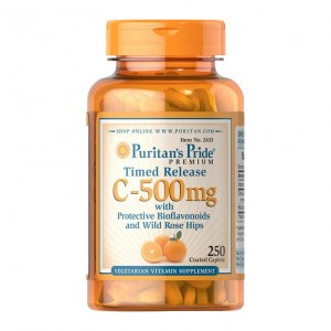 Puritans Pride Vitamin C 500 mcg with Bioflavonoids (100 таблеток)