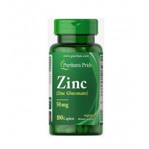 Puritans Pride Zinc 50 mg 100 каплет