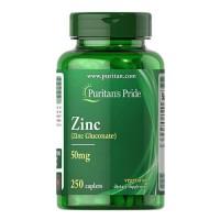 Puritans Pride Zinc 50 mg 250 каплет