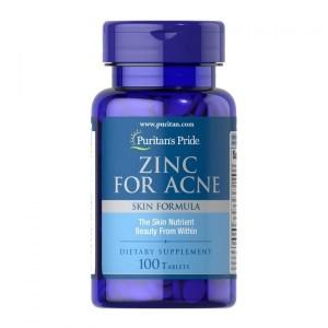 Puritans Pride Zinc For Acne 100 tablets