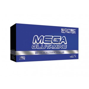 Scitec Nutrition mega glutamine 1400mg 120 капсул (60 порций)