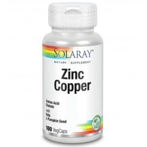Solaray Zinc Copper 100 veg caps