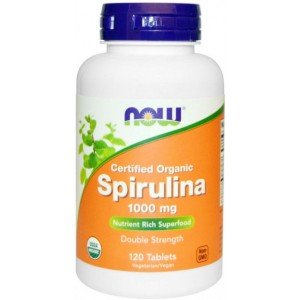 NOW - Spirulina 1000mg (120 tabs)