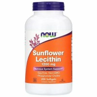 NOW Sunflower lecithin 1200mg 200 softgels