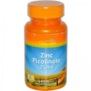 Thompson Zinc Picolinate 25 mg 60 tabs