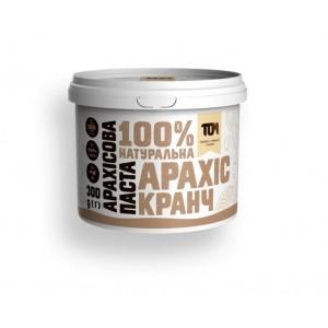 TOM арахисовая паста кранч 300 грамм пластик