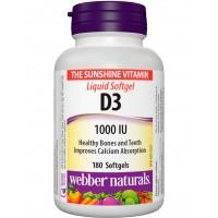 Webber Naturals Vitamin D3 1000 IU Orange (180 chewables)
